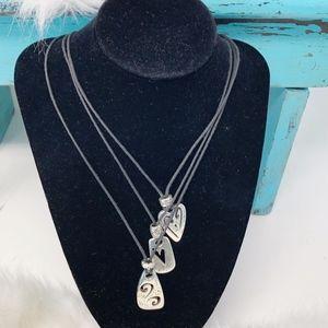 Brighton Brazilian 3 Heart Charm Necklace